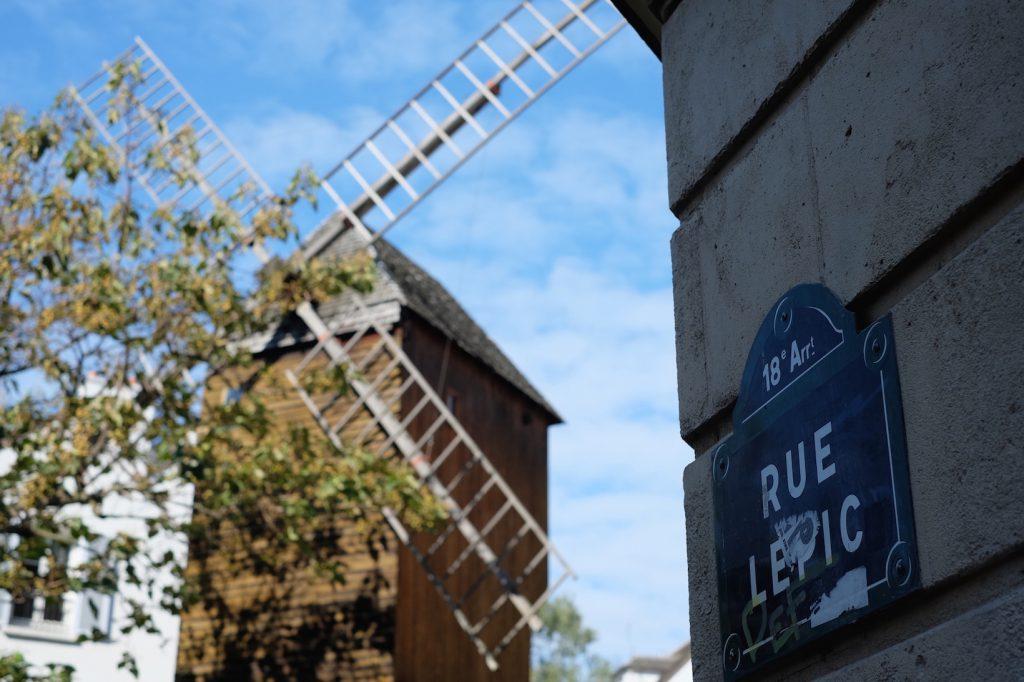 Rue Lepic moulin Parigi