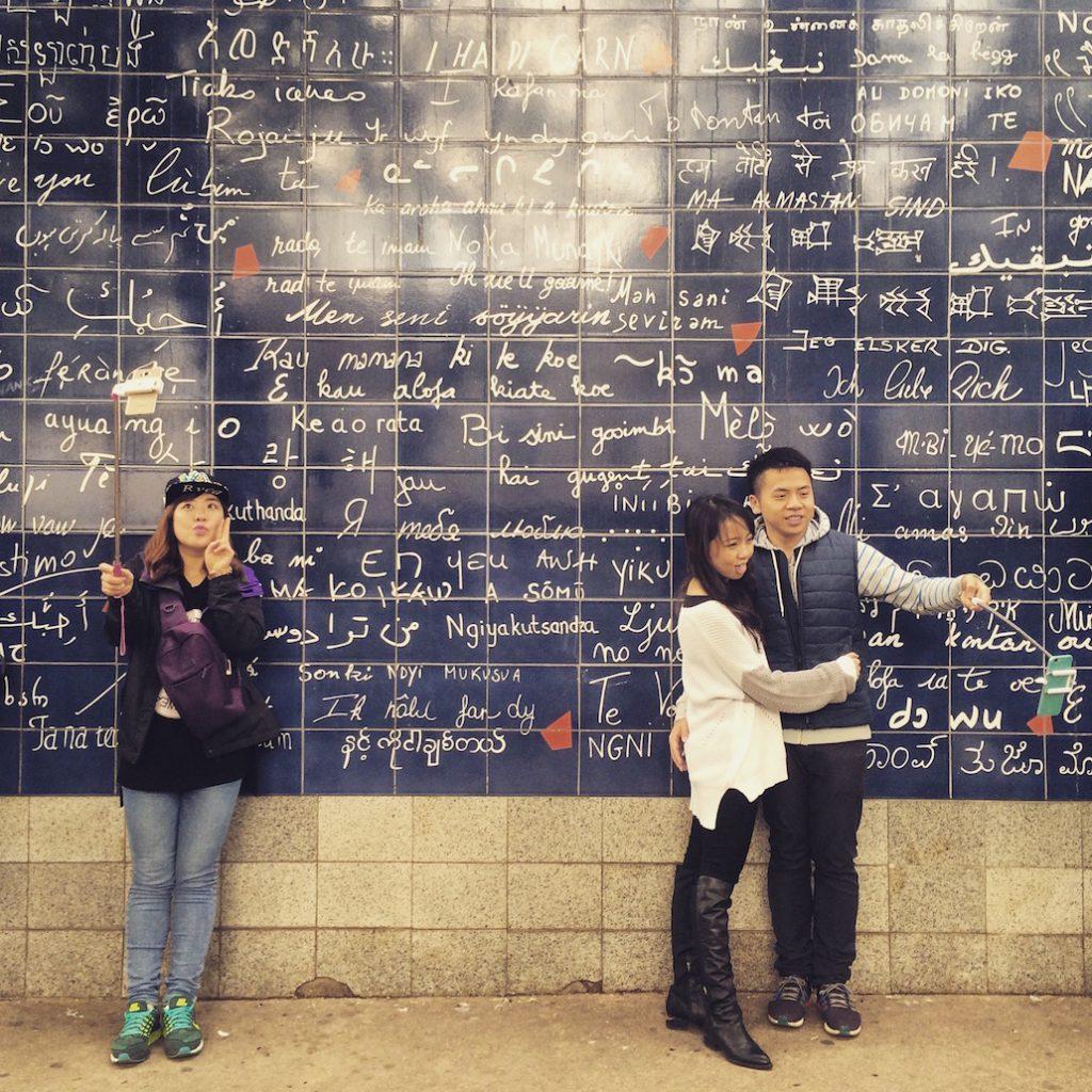 Le mur des Je T'Aime Paris