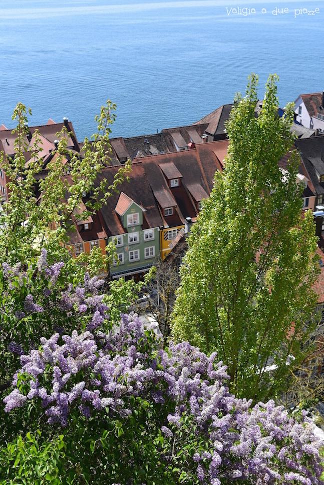 vista del Lago di Costanza dal palazzo barocco Meersburg
