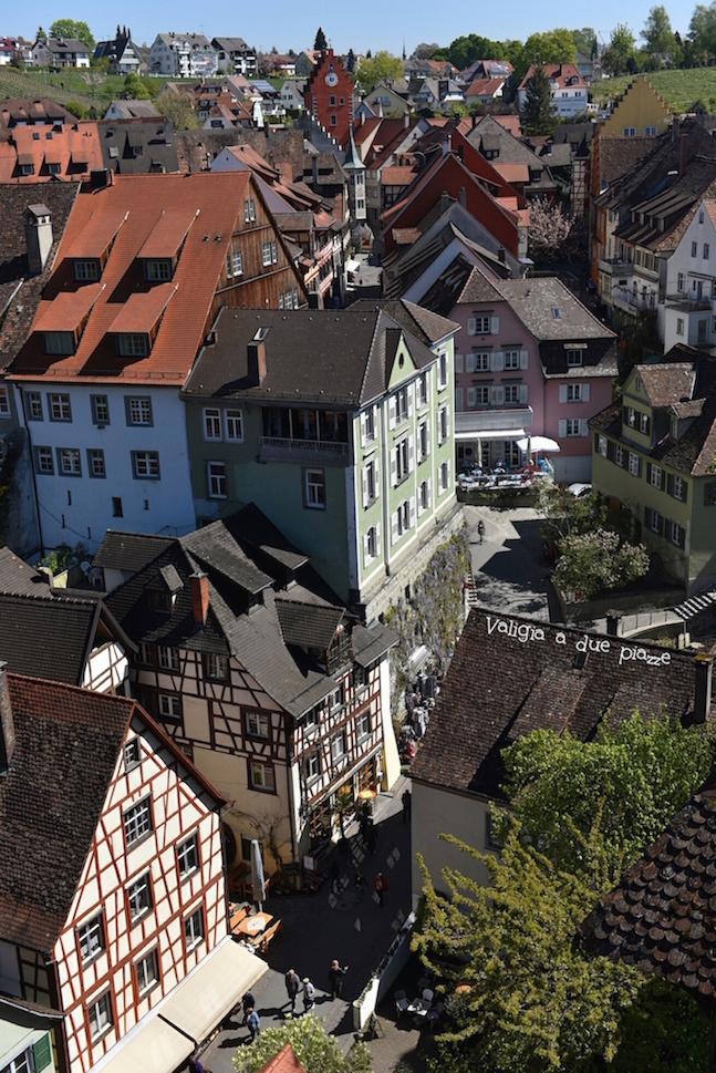 Meersburg dalla cima della torre del castello
