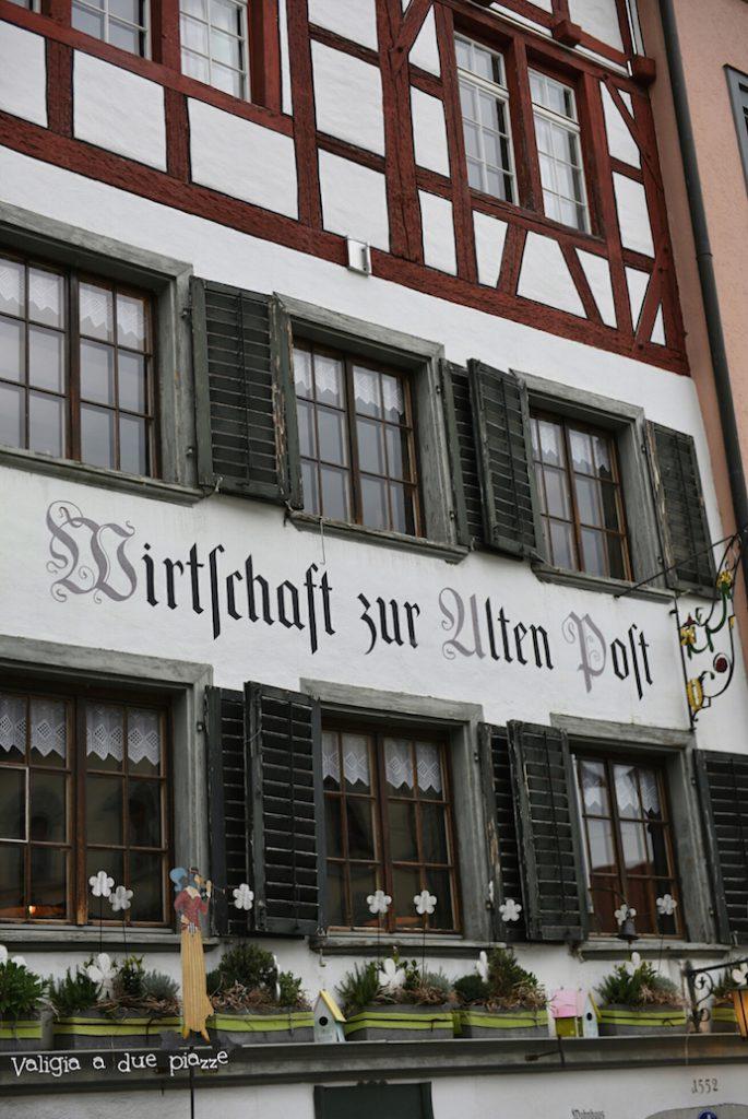 L'ingresso del ristorante Alten Post a San Gallo.