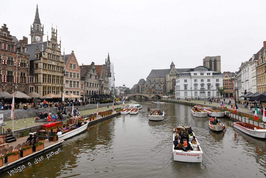 Gent canale vecchio porto