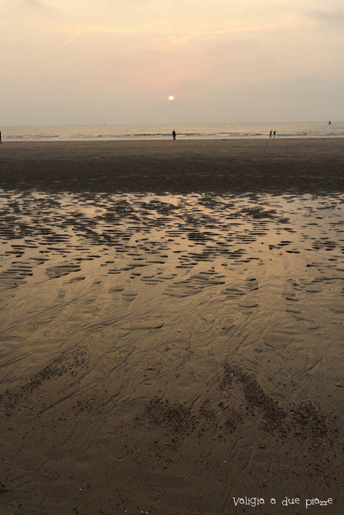 spiaggia ostenta mare del nord notte bianca