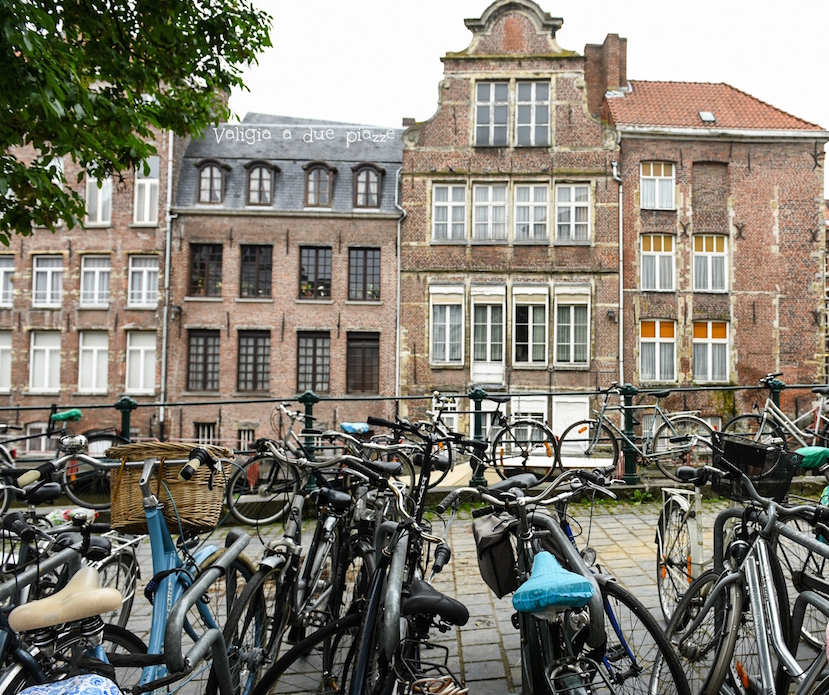 Gand in bicicletta