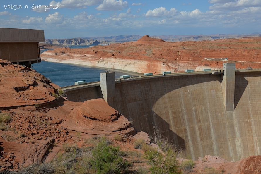 Lago artificiale Powell diga Arizona