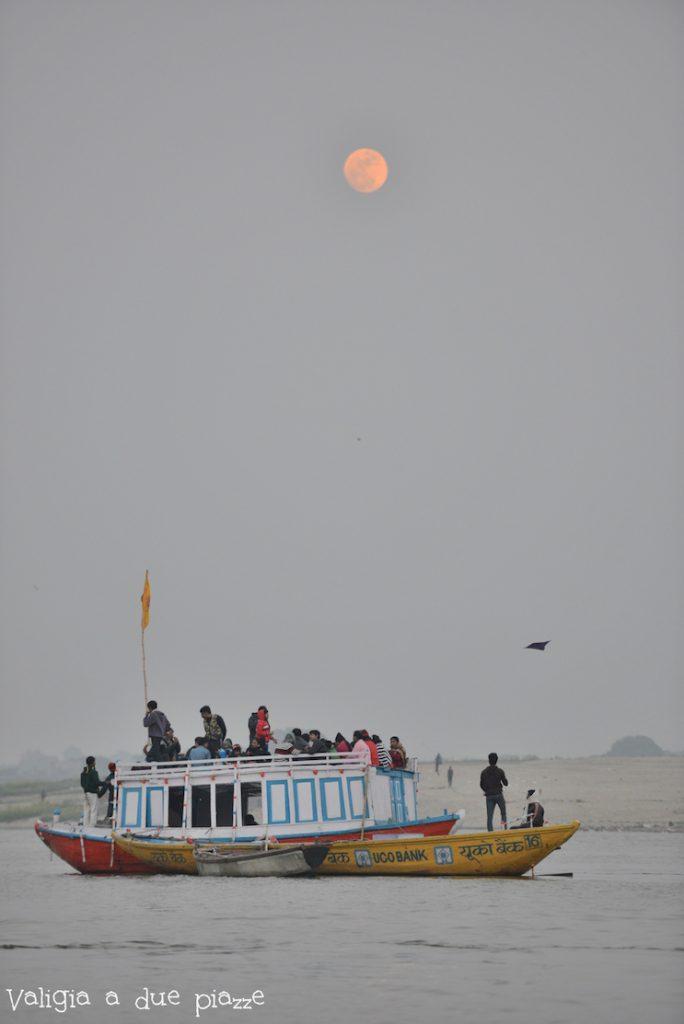 Varanasi tramonto Gange