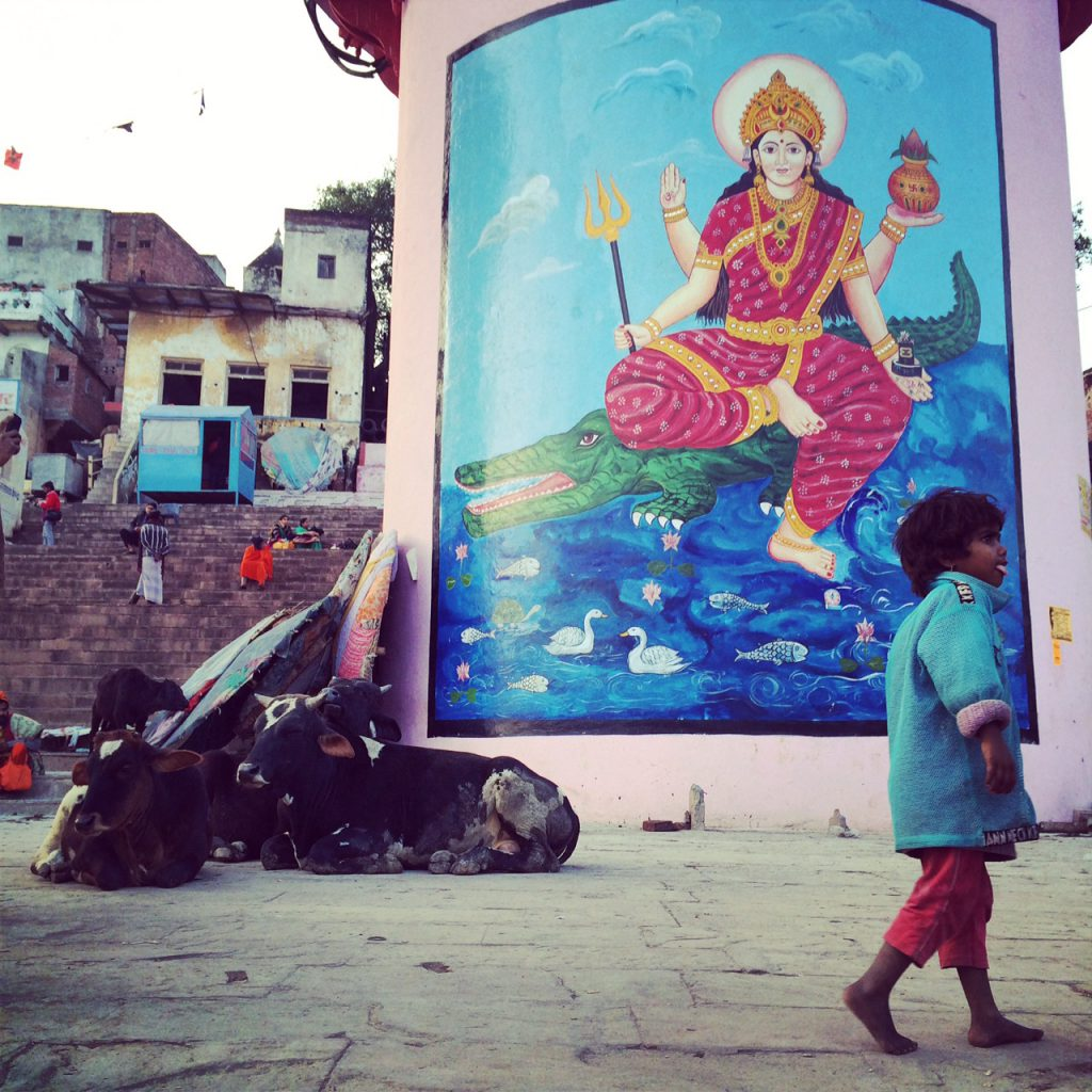 strade di varanasi ghat india