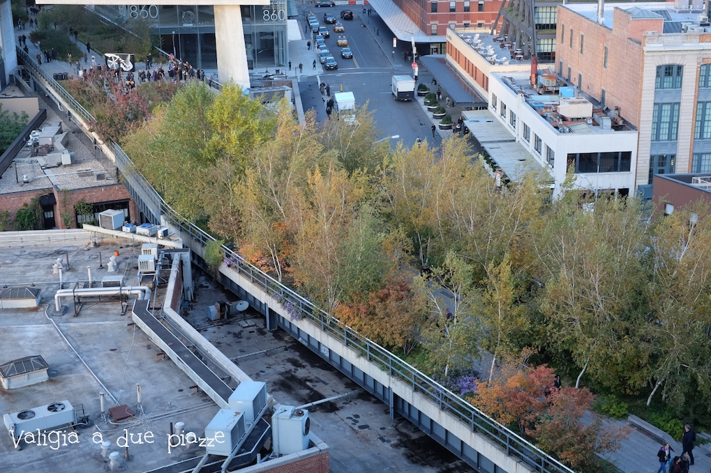 High Line vista dal Whitney Museum Manhattan