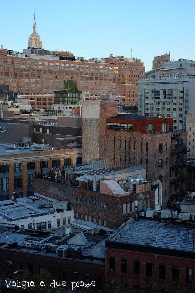 L'Empire State Building e lo skyline di Manhattan dal Whitney Museum