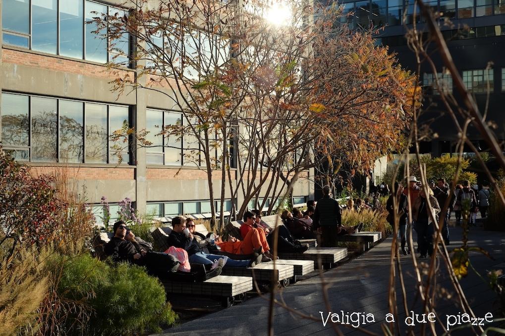 L'ultimo sole del giorno sulla High Line