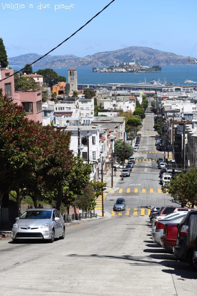 Vista da Macondray lane Russian Hill San Francisco