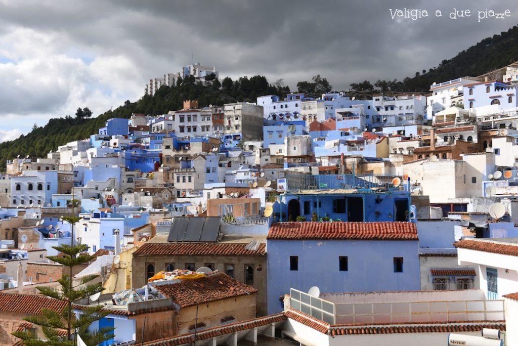 panorama chefchaouen blu monti Rif