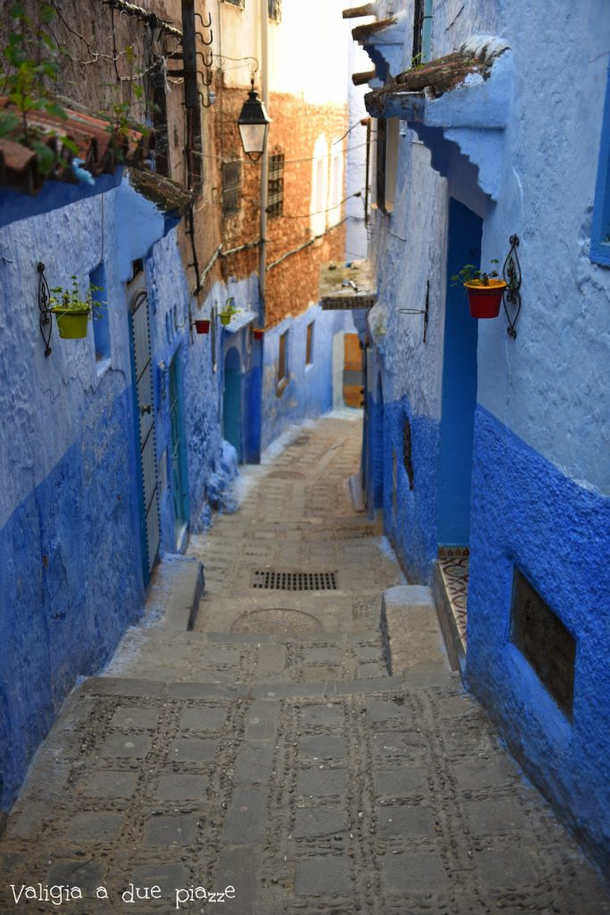 città blu marocco scorcio chefchaouen