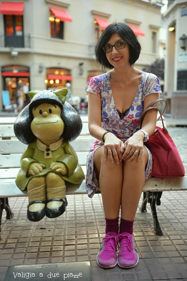 Con la statua di Mafalda si può interagire