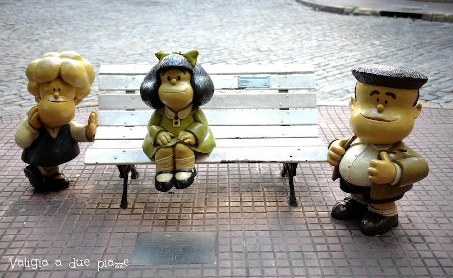 Mafalda statua Buenos Aires