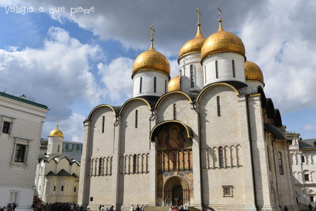 Cattedrale della Dormizione, all'interno del Cremlino.