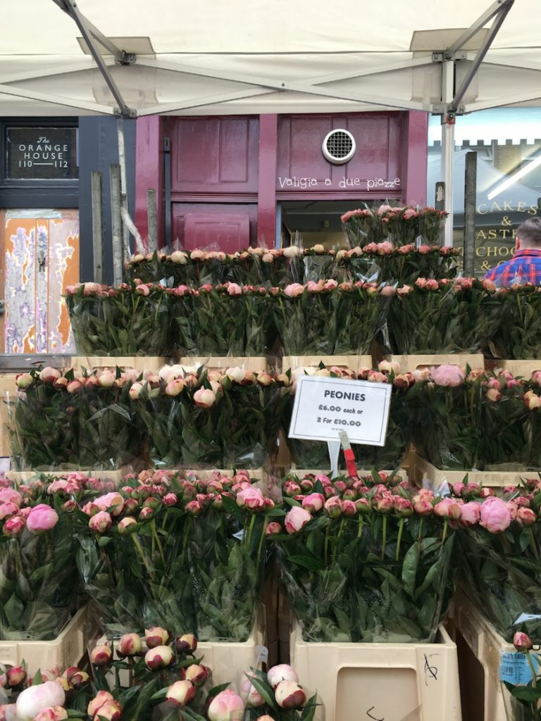 peonie Columbia Road Flower Market