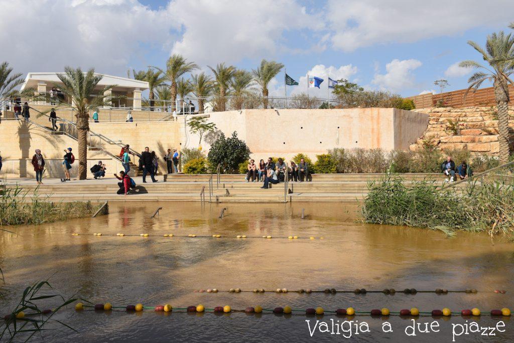Vista sulla riva israeliana del Giordano