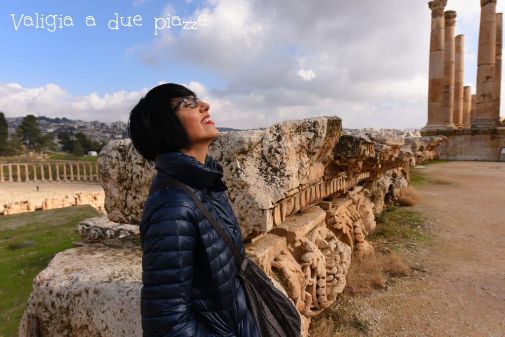 valigia a due piazze Jerash Giordania