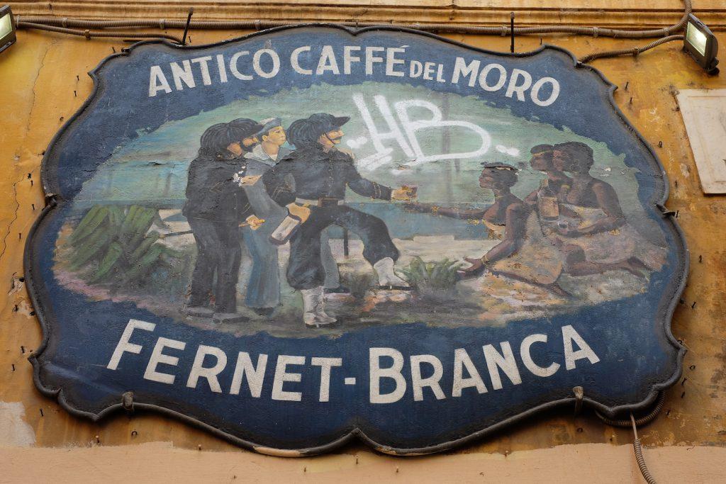 Antica Insegna del Caffè del Moro a Trastevere